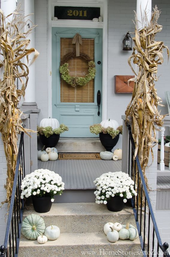 Front Porch Fall Decorating Pictures  Fall Front Porch Decorating Ideas Satori Design for Living