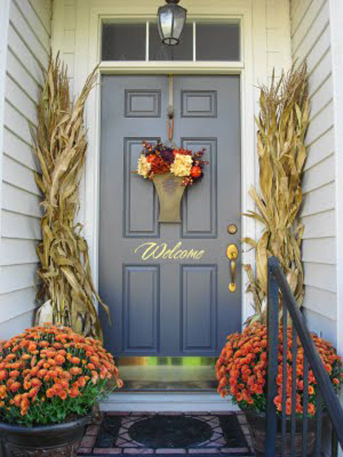 Front Porch Fall Decorating Pictures  10 Entryway Ideas That Celebrate Fall in Style