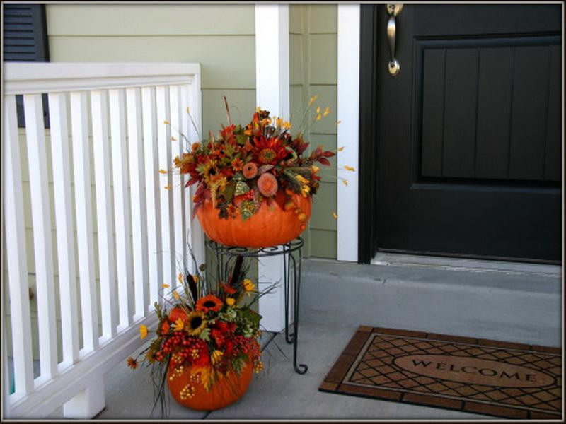 Front Porch Fall Decorating Pictures  Decoration Autumn Porch Decorating Ideas Interior