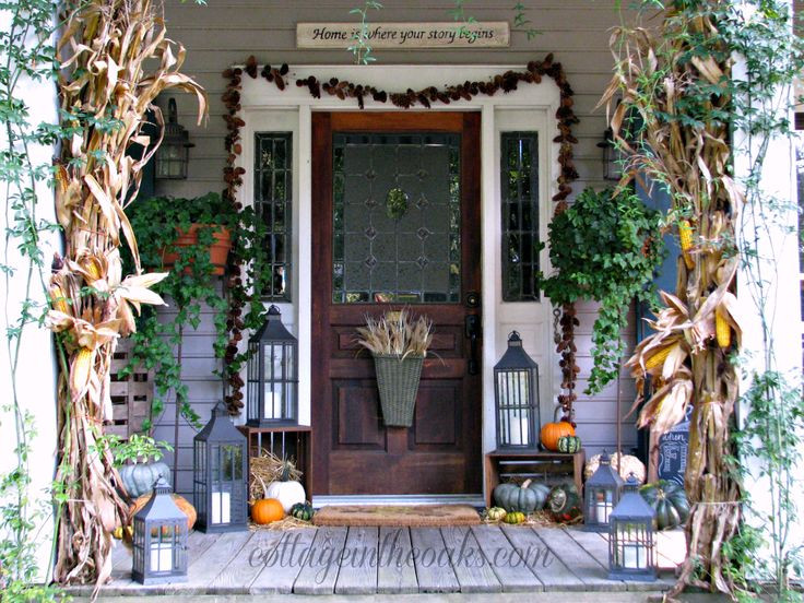 Front Porch Fall Decorating Pictures  17 Best ideas about Fall Front Porches on Pinterest