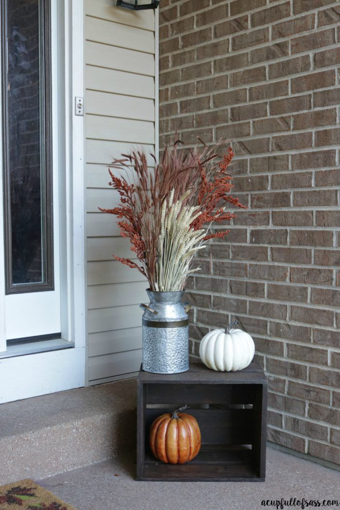 Front Porch Fall Decorating Pictures  Best 25 Small front porches ideas on Pinterest