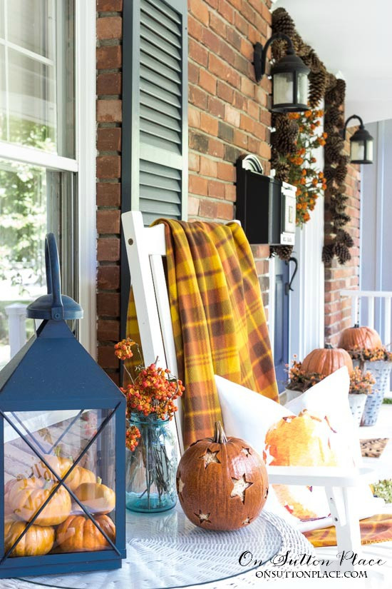 Front Porch Fall Decorating Pictures  Fresh Fall Finds
