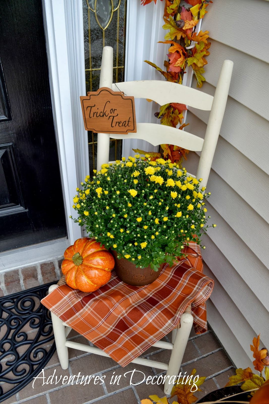 Front Porch Fall Decorating Pictures  Adventures in Decorating Our Fall Front Porch