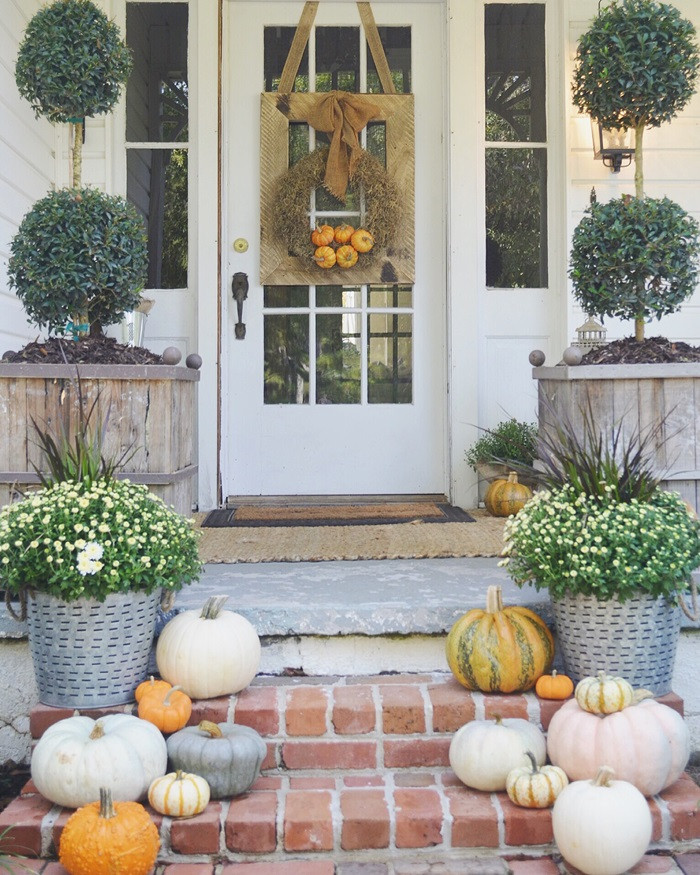 Front Porch Fall Decorations  Fall Front Porches House of Hargrove