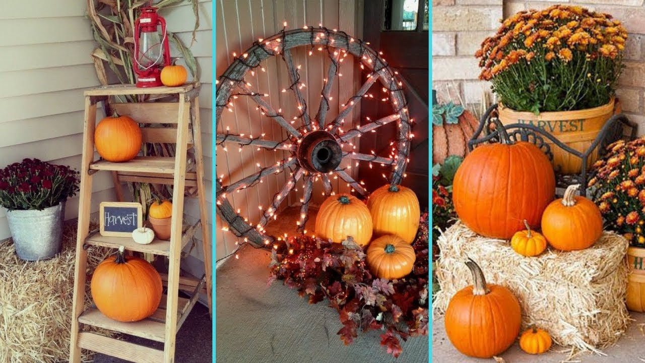 Front Porch Fall Decorations  DIY Gorgeous Fall Front Porch decor ideas