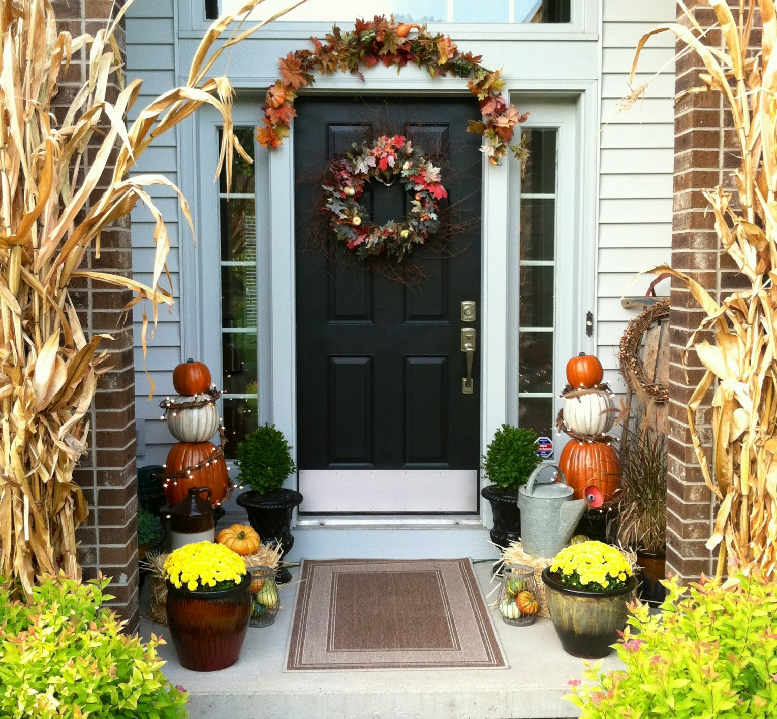 Front Porch Fall Decorations  Eleanor Olander This is me Fall Front Porch Decor