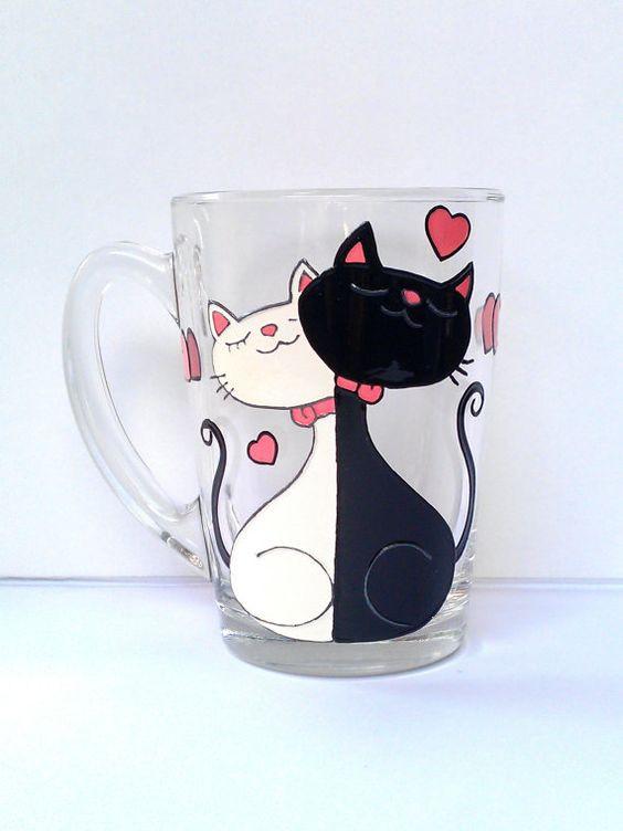 Funny Couples Gift Ideas  Cat Mug Couples Gift Love Mug Funny Mug by