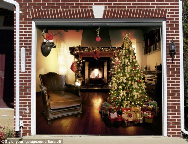 Garage Door Christmas Cover  Amazing pictures of German garage designs for Christmas