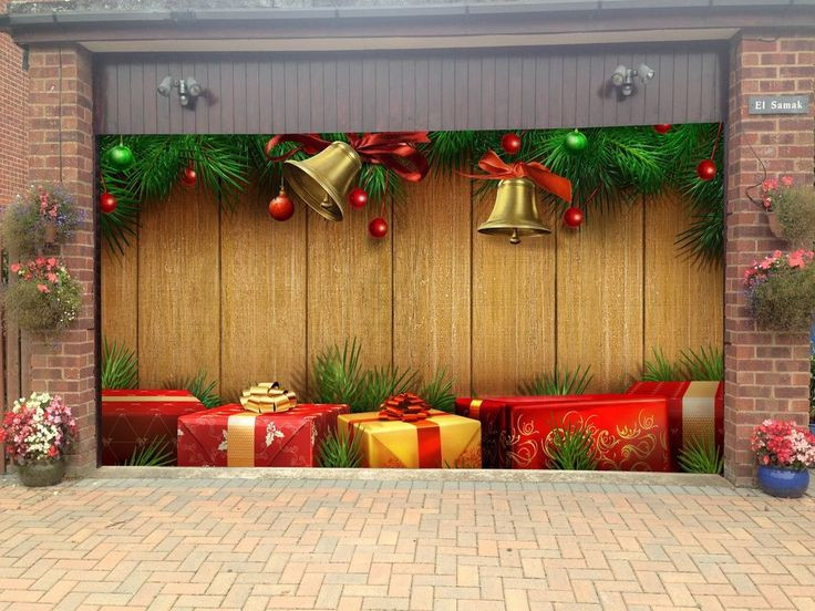 Garage Door Christmas Cover  22 best images about Garage Door Covers on Pinterest