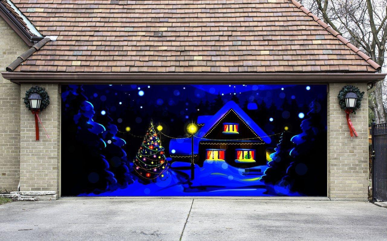 Garage Door Christmas Cover  Christmas Garage Door Cover Christmas from Amazon
