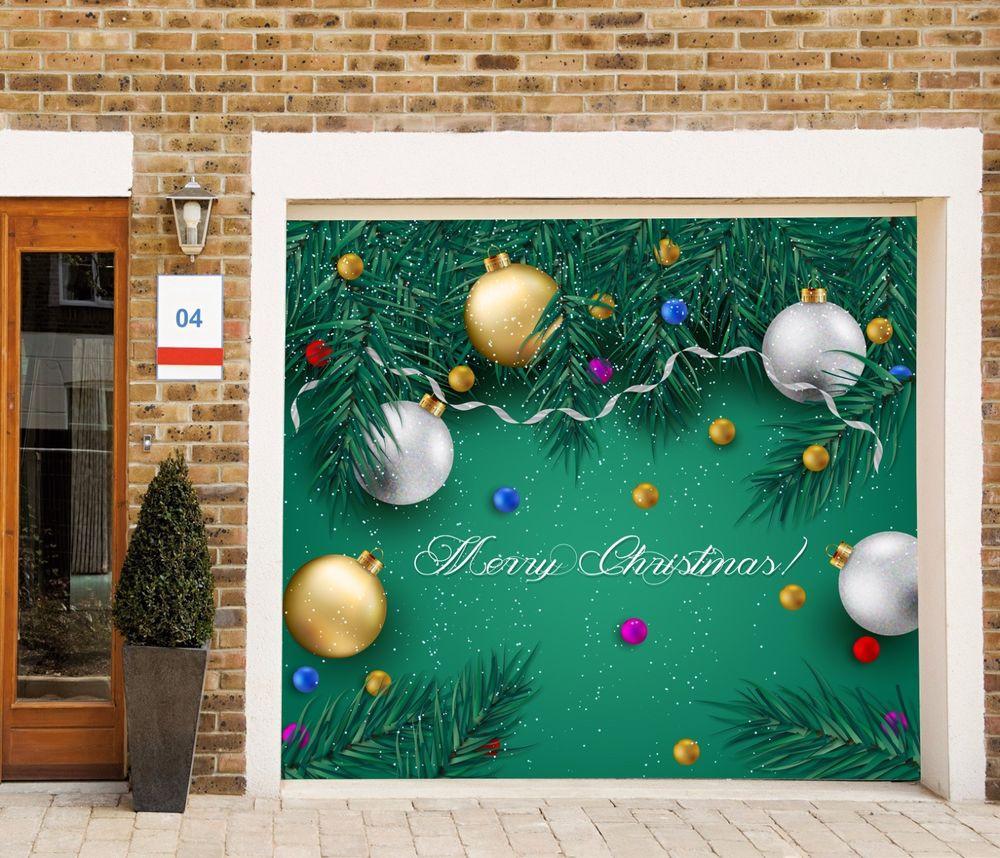 Garage Door Christmas Cover  Christmas Single Garage Door Covers Banner Holiday Outdoor