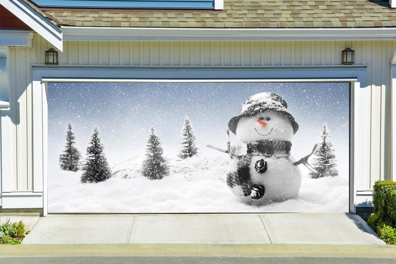 Garage Door Christmas Cover  Christmas Garage Door Cover Banners 3d from Amazon