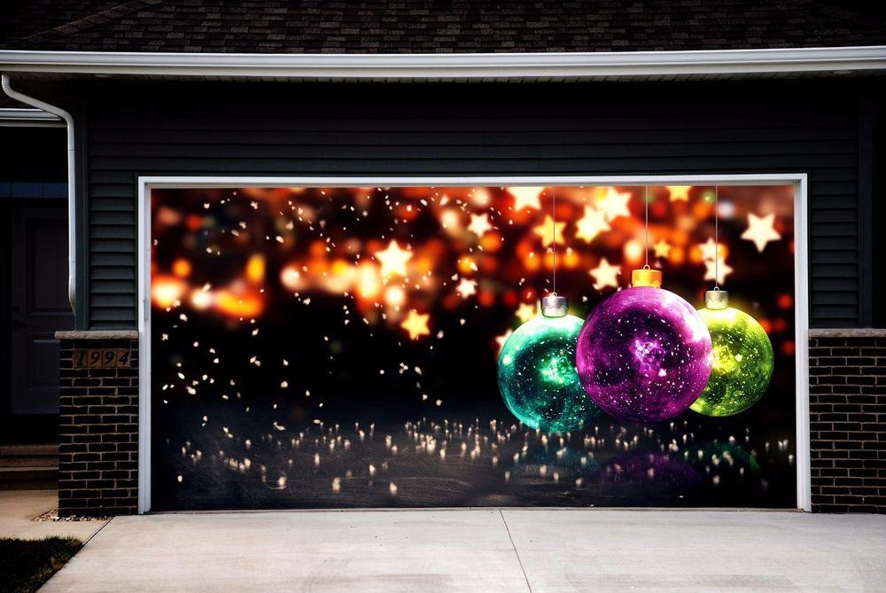 Garage Door Christmas Cover  Christmas Garage Door Covers Banners Outside House