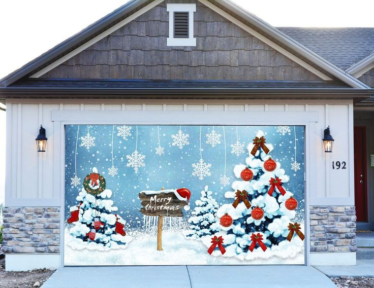 Garage Door Christmas Cover  38 best Christmas decorations for garage door images on