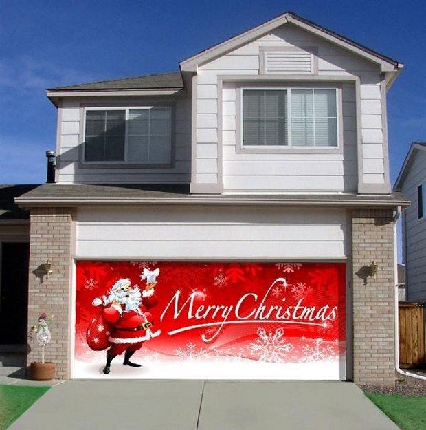 Garage Door Christmas Cover  62 best Holiday Decorating Ideas images on Pinterest