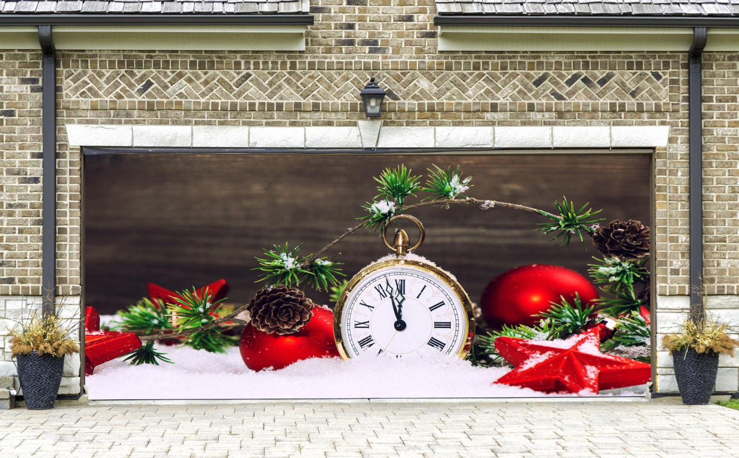 Garage Door Christmas Cover  Christmas Garage Door Covers 3D Banners Outside Art by