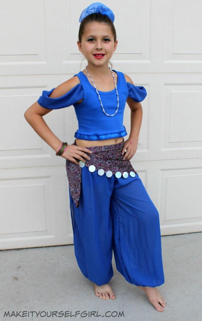 Genie Costume DIY  DIY Genie Costume Tutorial Make It Yourself Girl