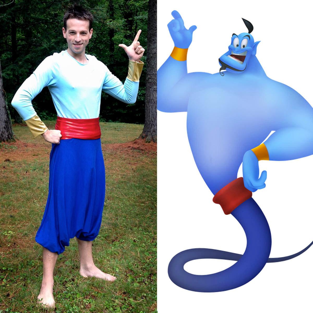 Genie Costume DIY  Aladdin Genie Halloween Costume Genie of the Lamp Shirt and