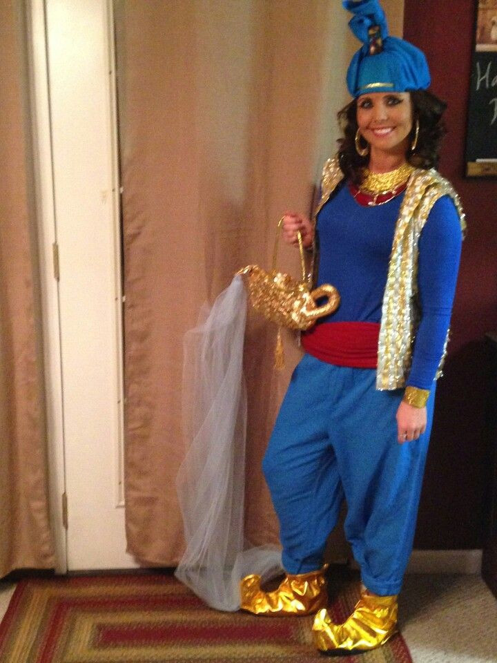 Genie Costume DIY  Aladdin Genie Costume DIY rge pants pegged at bottom