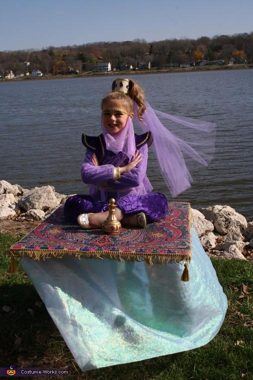Genie Costume DIY  Genie on a Magic Carpet Illusion Costume 3 3
