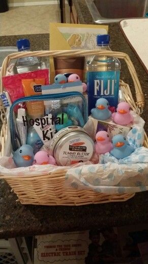 Gift Ideas For Baby Reveal Party  Gender reveal t basket for mom neat idea for a mom and