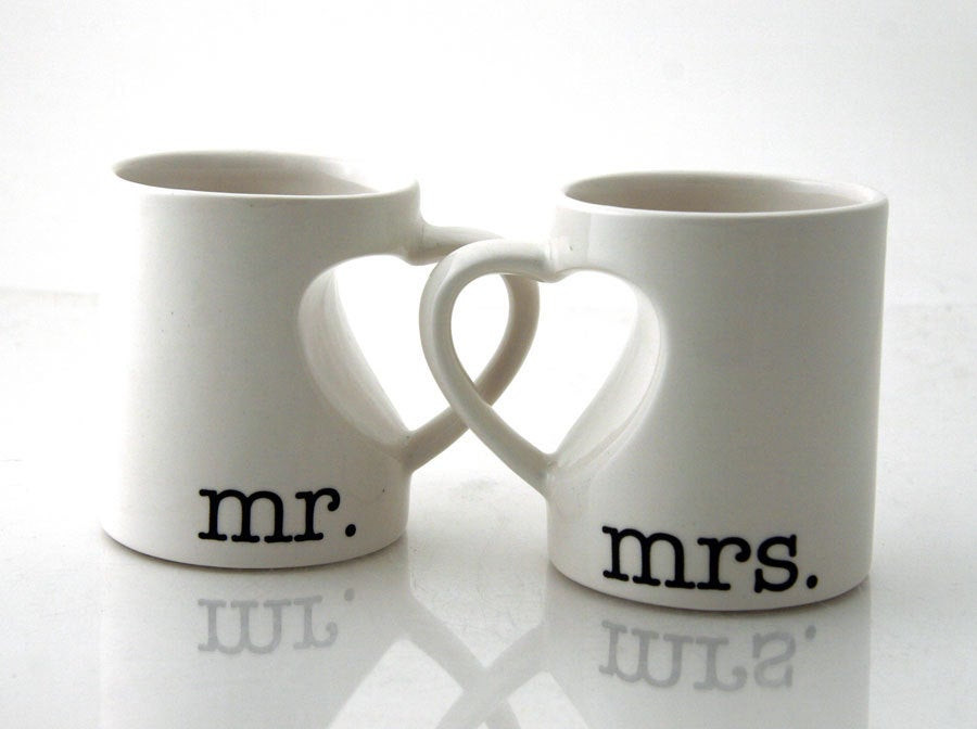Gift Ideas For Couple Friends  Mr & Mrs mug set for couples bride and groom wedding