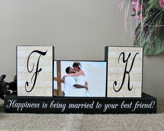 Gift Ideas For Couple Friends  Personalized Unique Wedding Gift for Couples by TimelessNotion