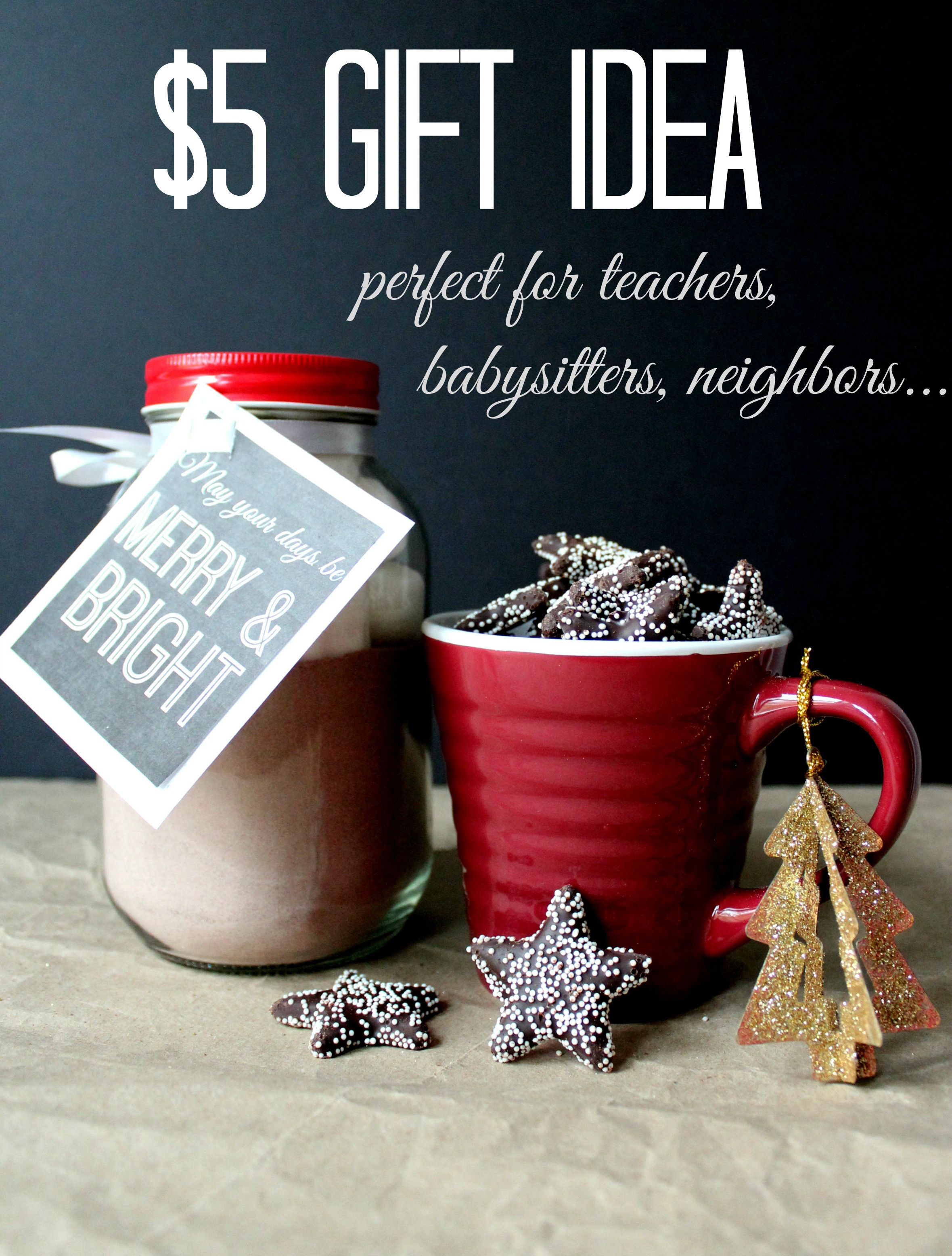 Gift Ideas For Coworkers Christmas  Simple Holiday $5 t idea Christinas Adventures