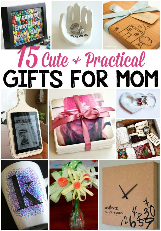 Gift Ideas For Mom For Christmas  15 Cute & Practical DIY Gifts for Mom Gift ideas