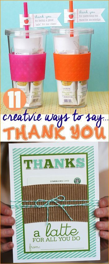 Gift Ideas To Say Thank You  Creative Ways to Say Thank You Great Teacher Appreciation