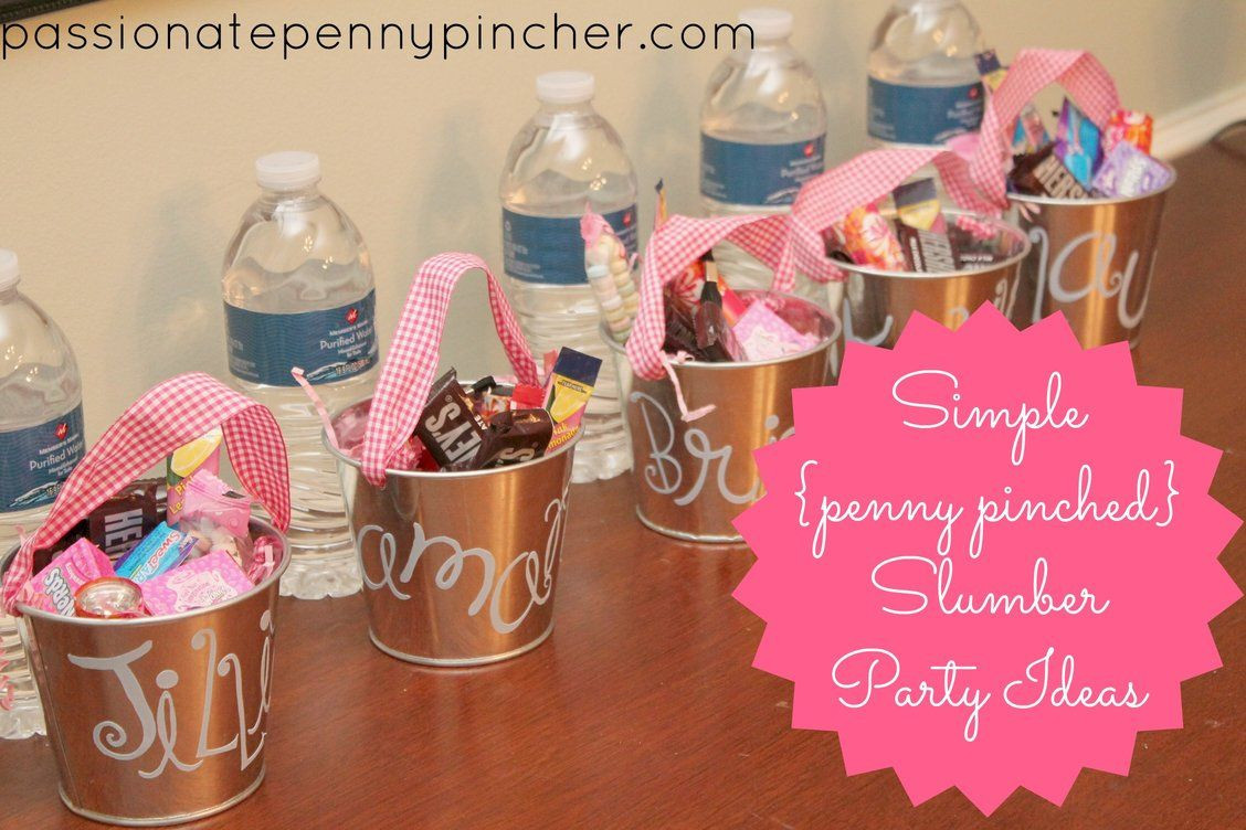 Girls Birthday Party Favors  Frugal Slumber Party Ideas For the GIRLS