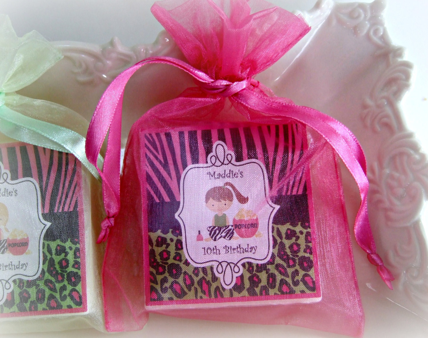 Girls Birthday Party Favors  Spa Party Favor Birthday Party Favor Girl Party Favor Zebra