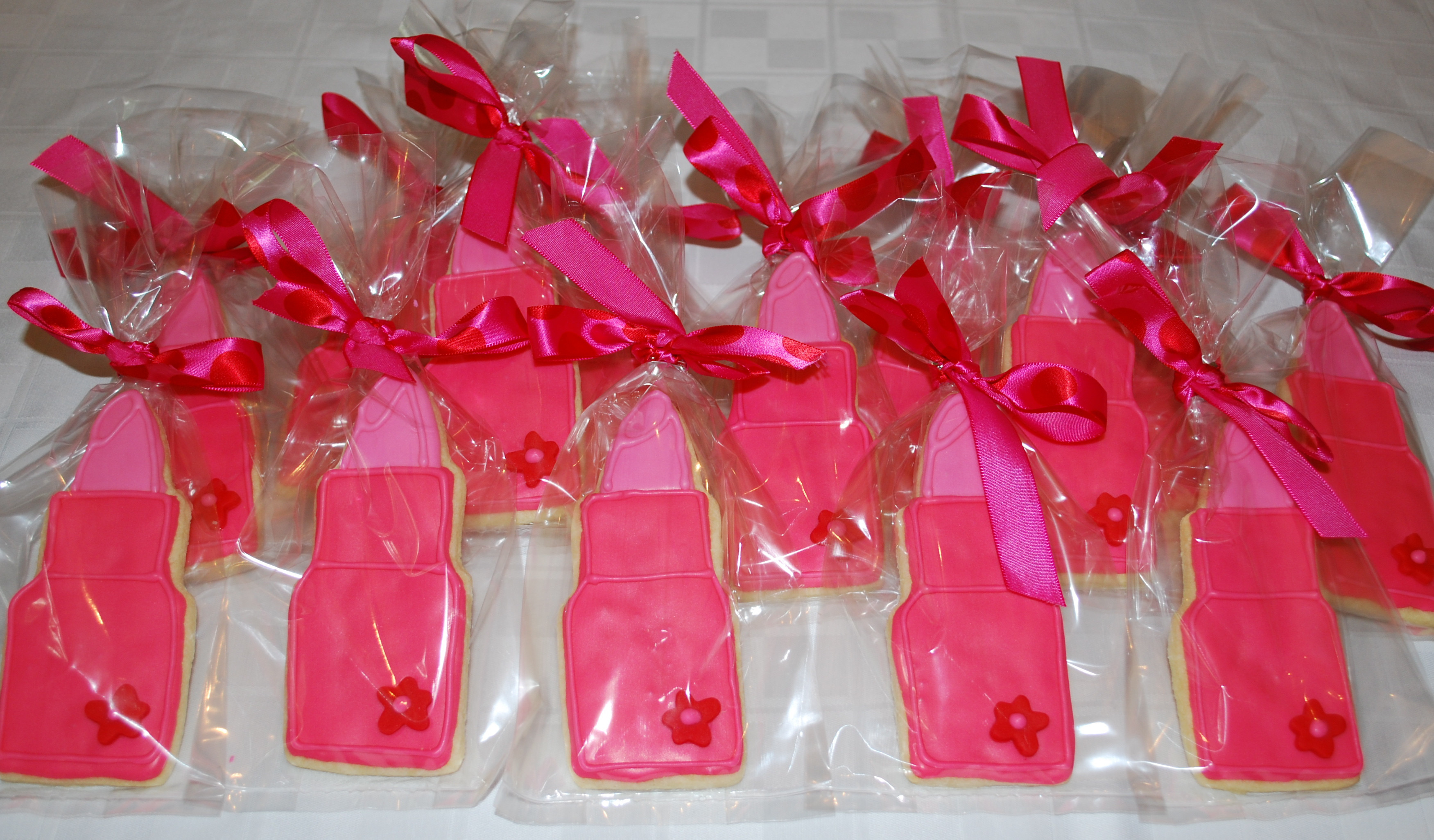 Girls Birthday Party Favors  Lipstick Cookie Favors