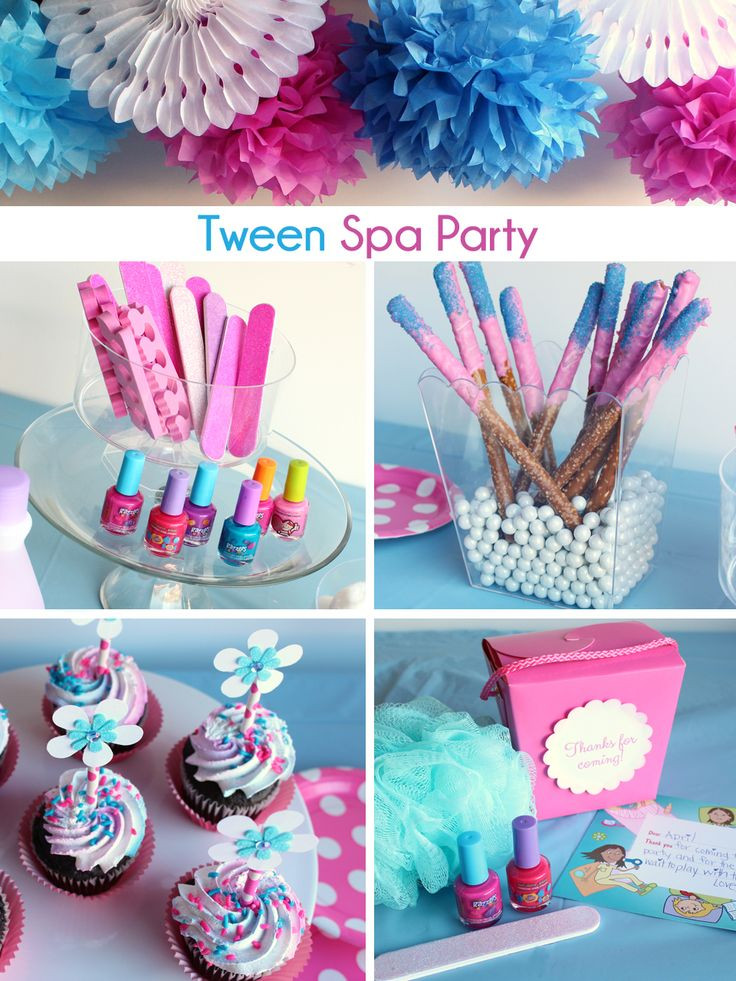 Girls Birthday Party Favors  Tween Spa Party Ideas décor activities and sweets to
