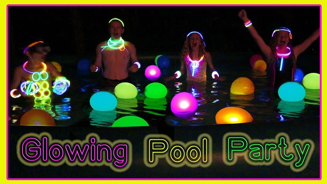 Glow Pool Party Ideas  GLOW IN THE DARK