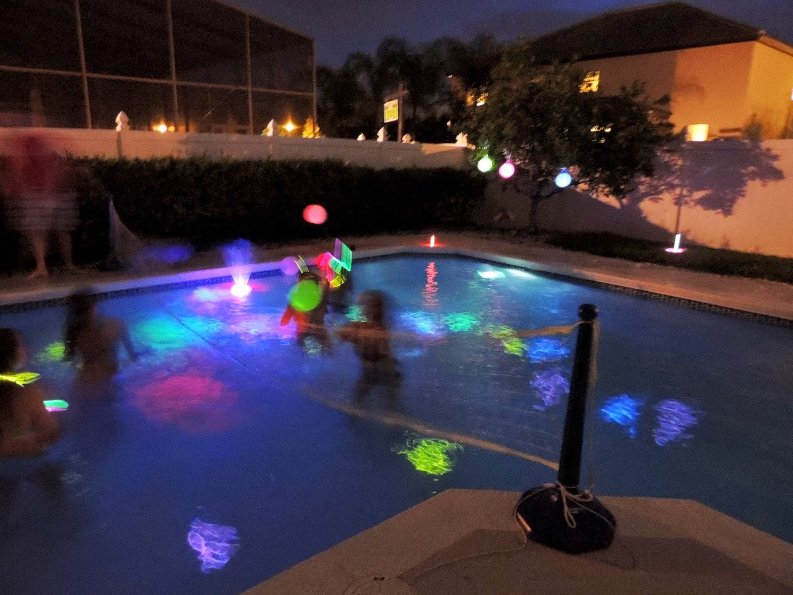 Glow Pool Party Ideas  Glow in the Dark Pool Party Party Planning Ideas