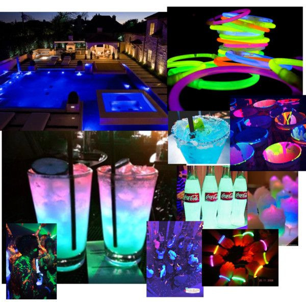 Glow Pool Party Ideas  Glow in the dark pool party Birthday Ideas