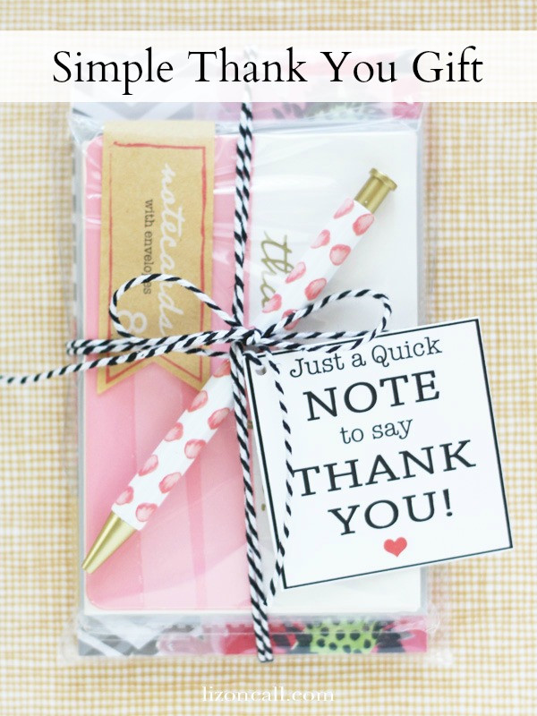 Good Thank You Gift Ideas  Simple Thank You Gift Idea Liz on Call