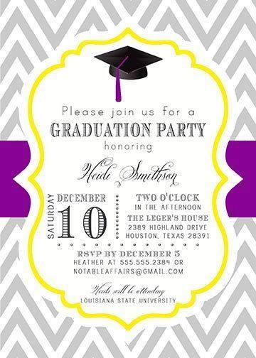 Graduation Party Invitations Ideas  College Graduation Party Invitation Wording A Birthday Cake