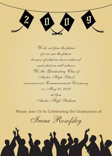 Graduation Party Invitations Ideas  Graduation Party Party Invitations Wording