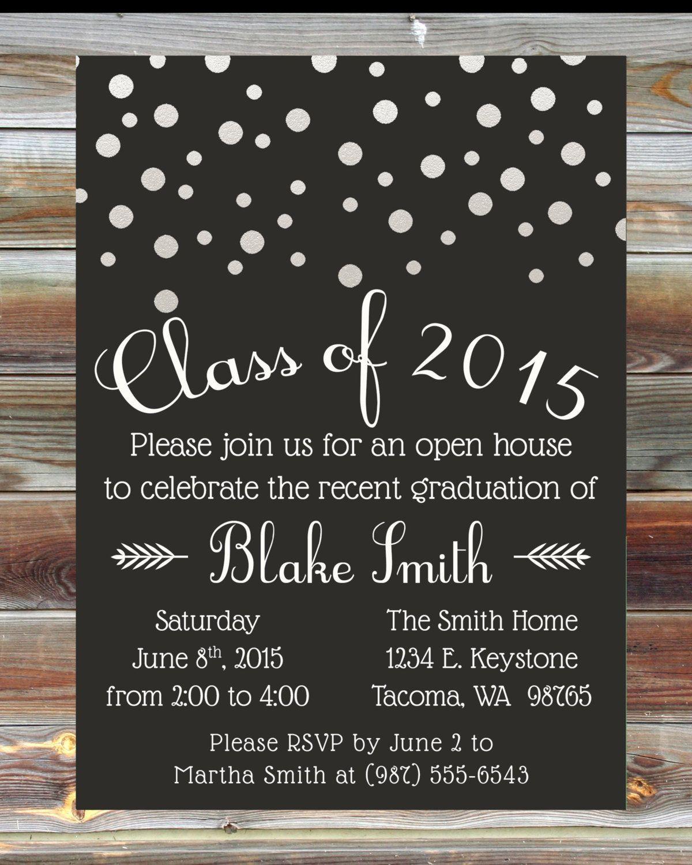 Graduation Party Invitations Ideas  Custom Graduation Party Invitation Graduation Open House