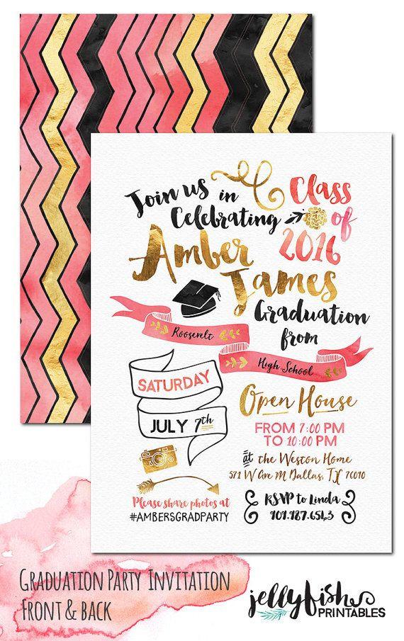 Graduation Party Invitations Ideas  Best 25 Unique graduation invitations ideas on Pinterest