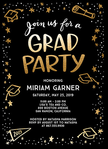 Graduation Party Invitations Ideas  Celebration Doodles 5x7 Graduation Party Invitations