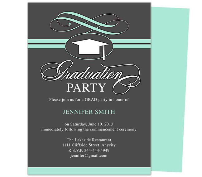 Graduation Party Invitations Ideas  46 best Printable DIY Graduation Announcements Templates