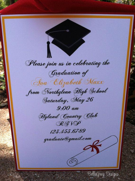 Graduation Party Invitations Ideas  High School Graduation Party Ideas