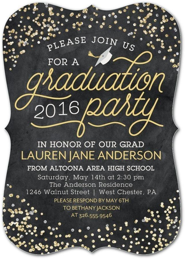 Graduation Party Invitations Ideas  25 best ideas about Graduation Invitations on Pinterest