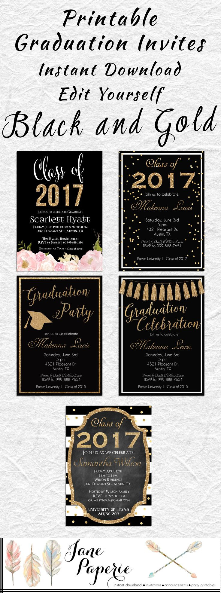 Graduation Party Invitations Ideas  Best 25 High school graduation invitations ideas on