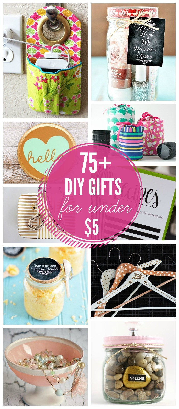 Great DIY Christmas Gifts  75 Gift Ideas under $5