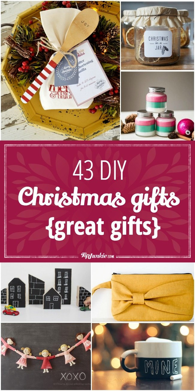 Great DIY Christmas Gifts  43 DIY Christmas Gifts great ts Tip Junkie