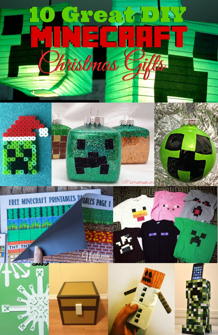 Great DIY Christmas Gifts  10 Great DIY Minecraft Christmas Gifts
